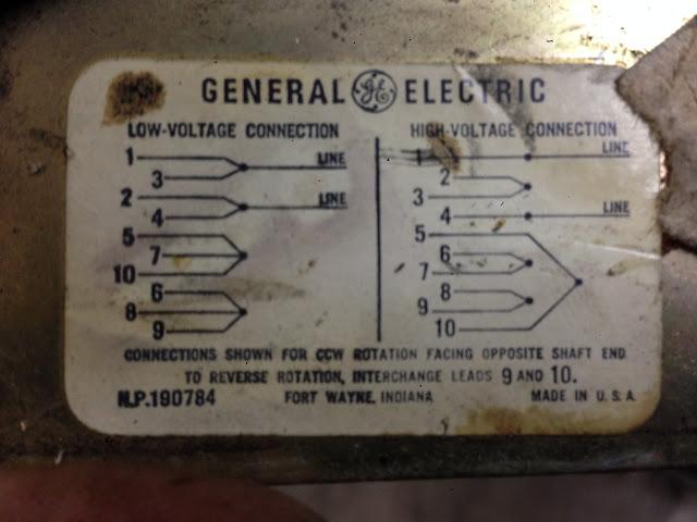 GE Tri-Clad 10 Wire Motor Diagram - VintageMachineryorg Knowledge