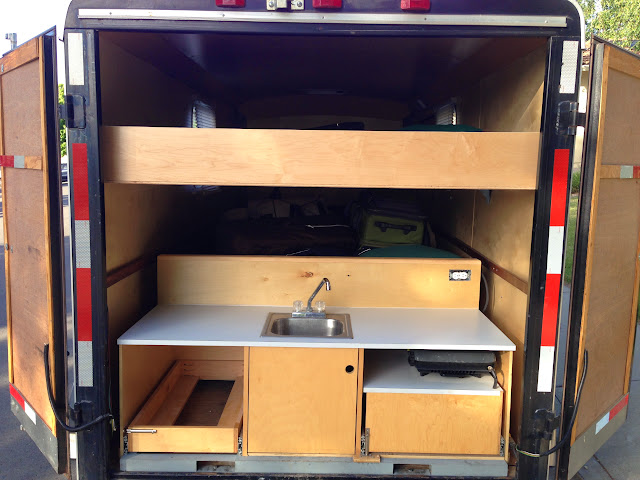 This Is How My 6x12 Cargo Trailer Currently Configured At Bottom The Unit That Includes Galley And Adult Bed Above Kids Bunk