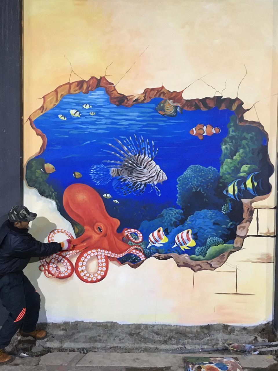 Karya Lukisan Mural Tiga Dimensi Paling Unik