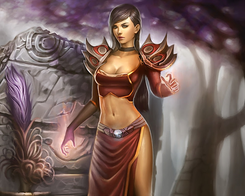 Lovely Sorceress, Magic And Spells 2