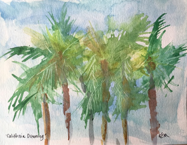 Painting my world palm tree studies focused practice for Palm tree painting
