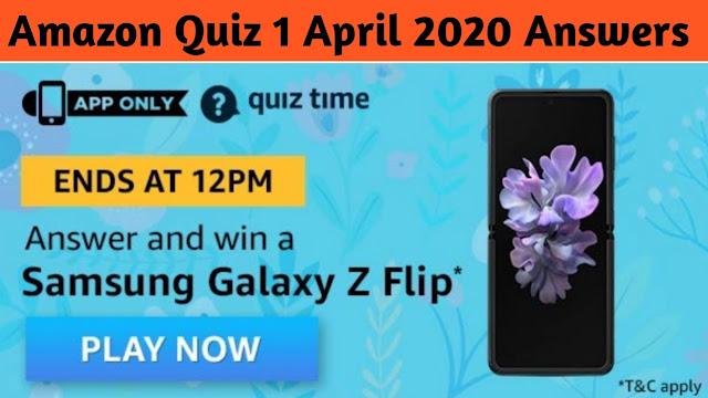 Amazon Quiz 1 April 2020 Answers