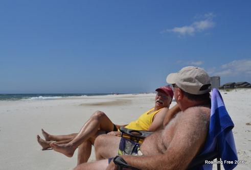 Tom and Rick enjoying the sun