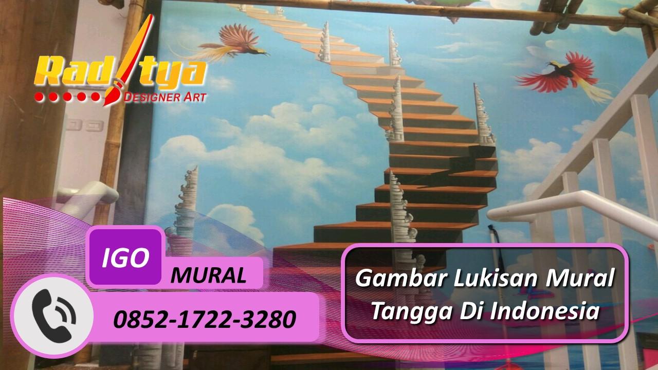 Gambar Lukisan Mural Tangga Di Indonesia