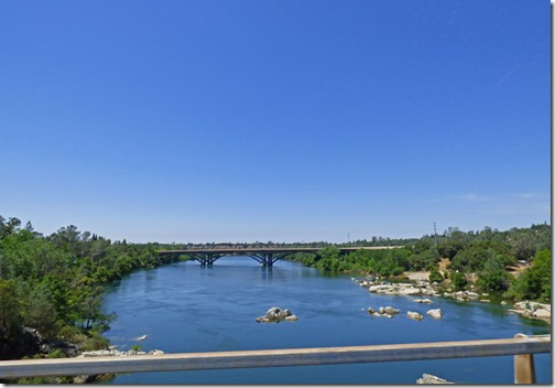 View from Rainbow Bridge, over American River, Folsom CA