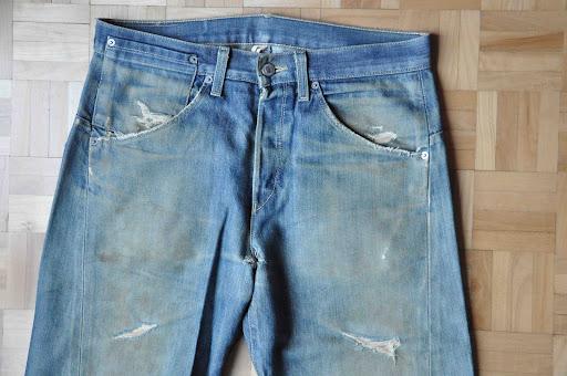 worn levis denim jeans