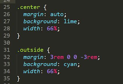 خاصية CSS margin