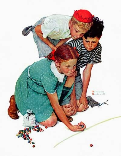 Norman Rockwell - Knucles down 1939