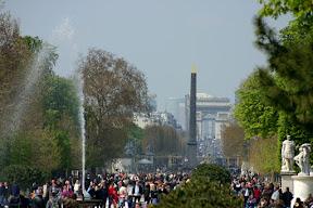 Place de la Concorde and the Arc de Triomphe