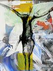 Mensch, Glas, Schwarzlot, Acryl, MDF 2005/09