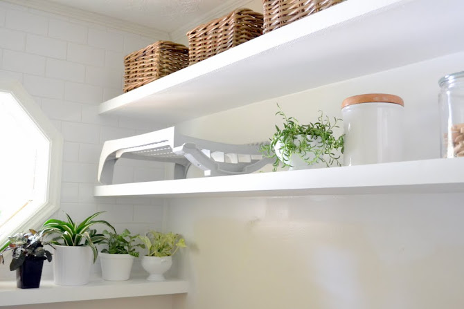 laundry room shelves