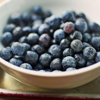 Blueberries with Lemon Brown Sugar Cream