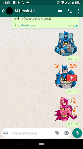 Trendy Batman Stickers (WAStickerApps) screenshot 5