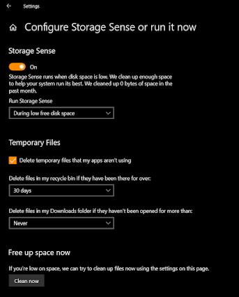 configure windows storage
