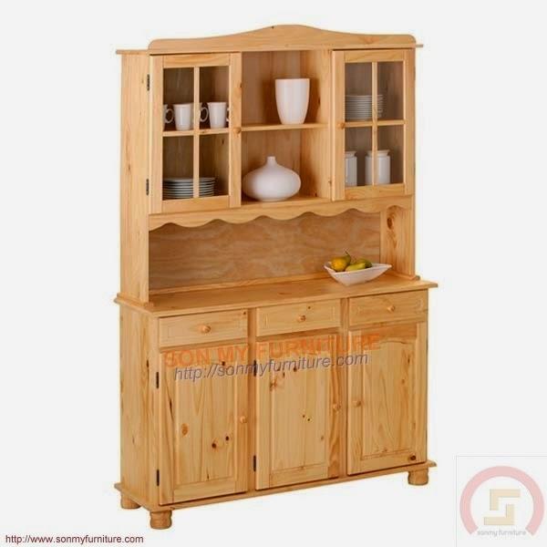 Tủ trưng bày gỗ 019