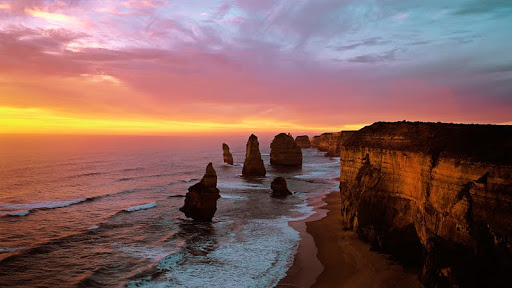 Sunser Twelve Apostles at Sunset, Port Campbell National Park, Australia.jpg
