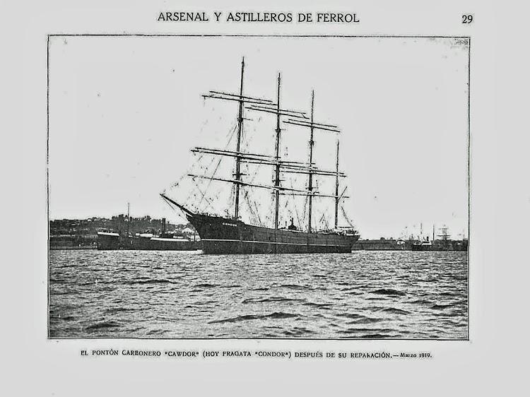 La barca CONDOR despues de su transformación. Libro Obras. S.E. de C.N. Año 1918.jpg