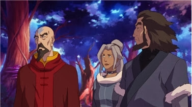 Tenzin, Kya and Bumi