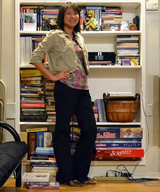 sacramento office fashion blogger angeline evans the new professional blog business casual banana republic pants anthropologie ella moss top