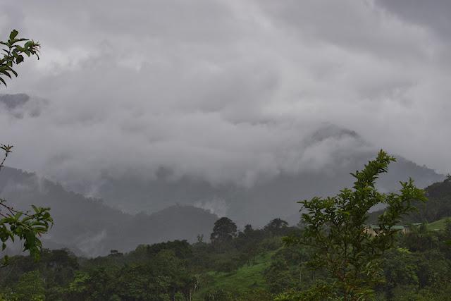 Temps pluvieux en amont de Lita (Imbabura, Équateur), 8 décembre 2013. Photo : J.-M. Gayman