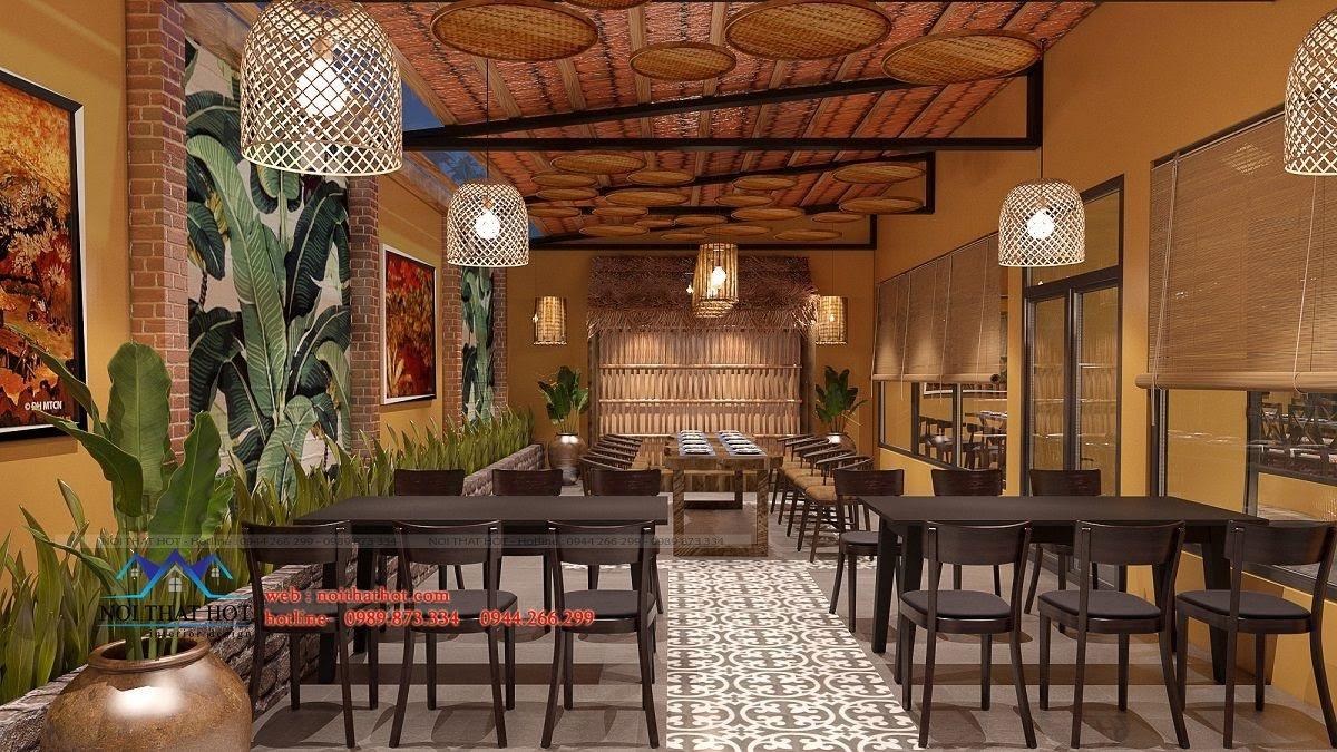 thiết kế nhà hàng đồng quê 4