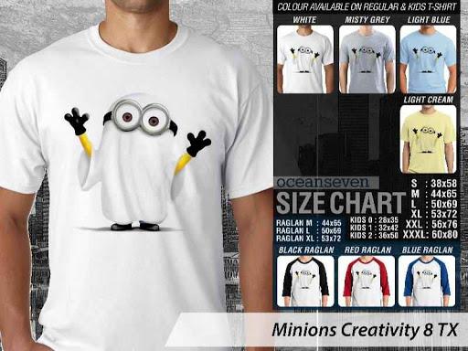 Kaos Kartun Minions Creativity 8 distro ocean seven