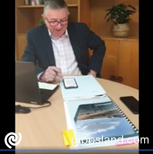 Mayor Danny Goss during the live online Q&A session