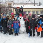Zimní radovánky na zahradě MŠ Pod Lipkami