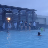 the lagoon is very popular among Japanese & Chinese tourists in Grindavík, Suournes, Iceland