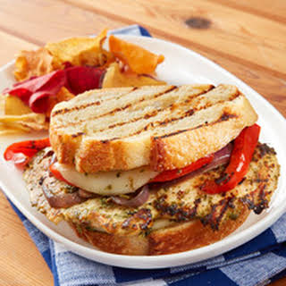 Grilled Vegetable and Pesto Chicken Panini.