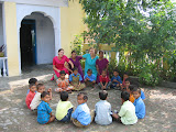 PVs with staff and students of the primary school