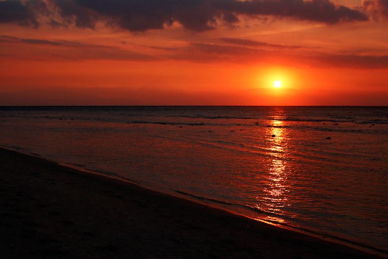 Atarder en la playa de Gili Trawangan