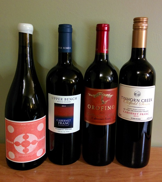 A selection of BC's exciting small lot Cabernet Franc