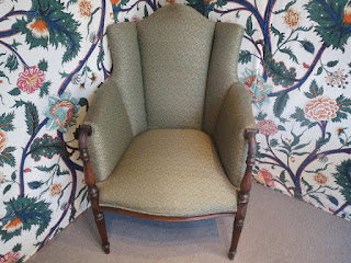 Carved Wingback Chair