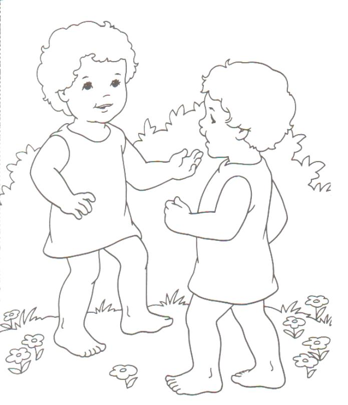 Jacob and esau reunite coloring pages