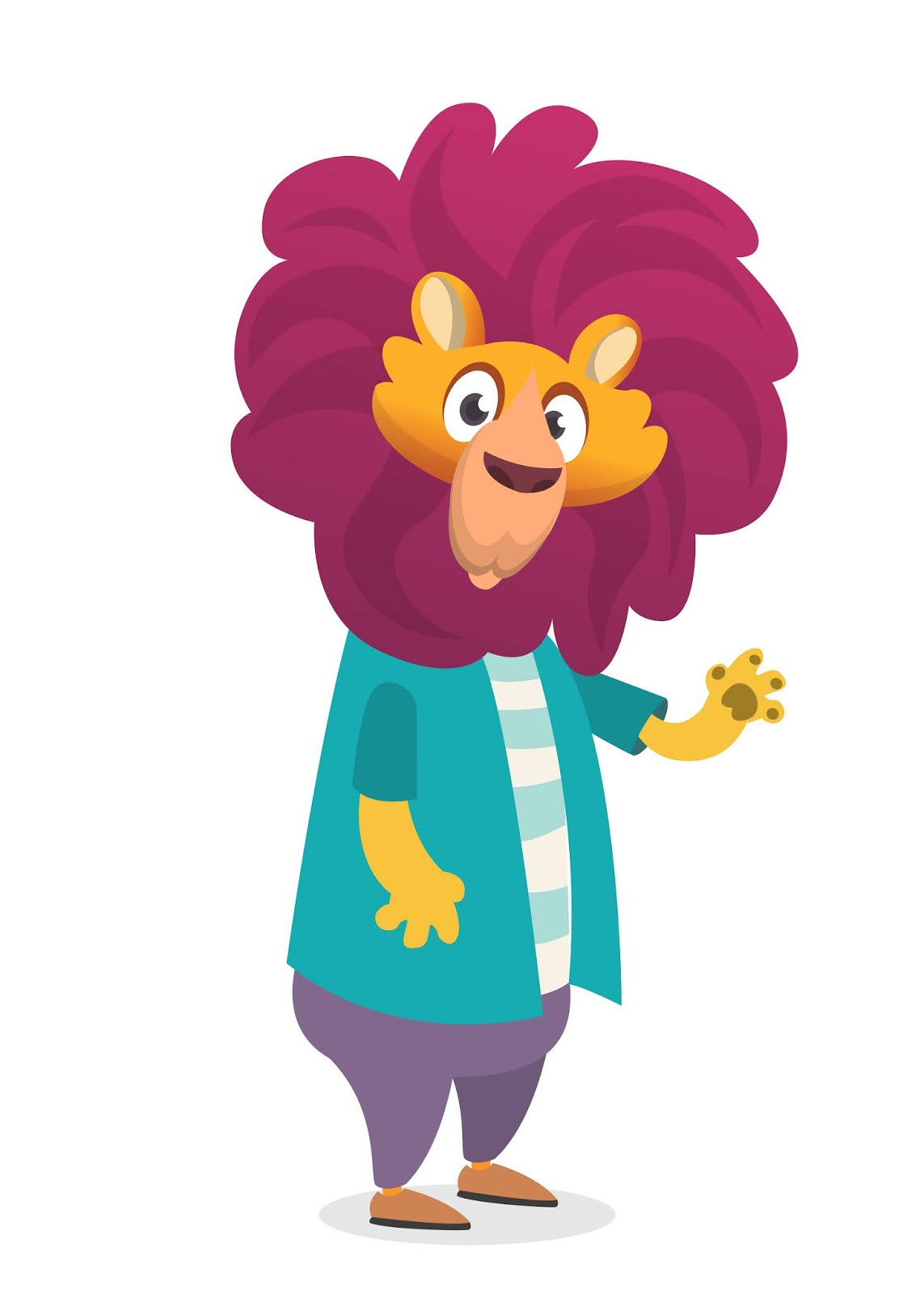 Cartoon Funny Lion Illustration Free Download Vector CDR, AI, EPS and PNG Formats