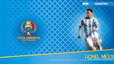 Wallpaper Copa América 2016 – Argentina (Lionel Messi) - 1366x768