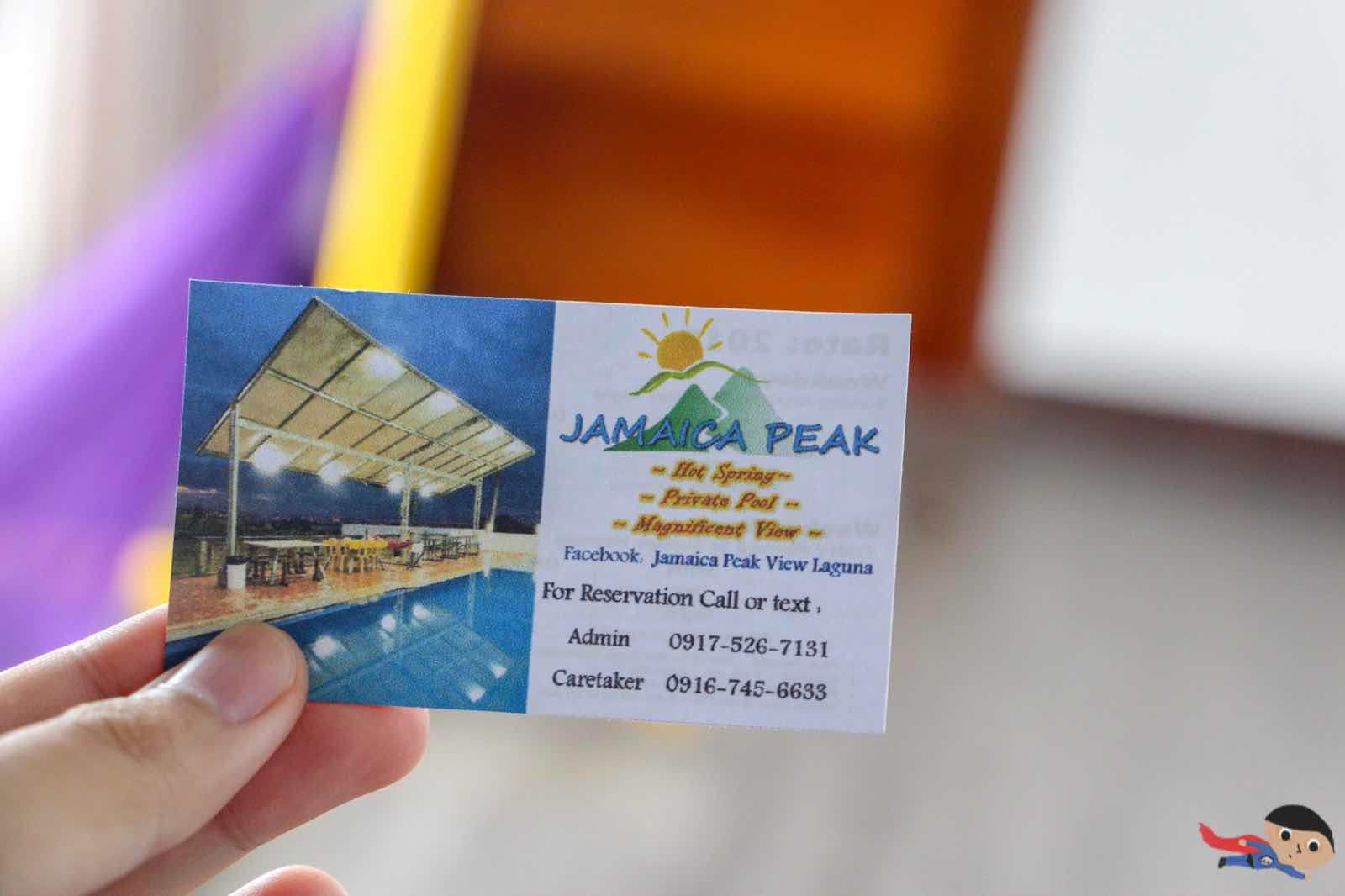 Contact Card of Jamaica Peak Resort - Laguna