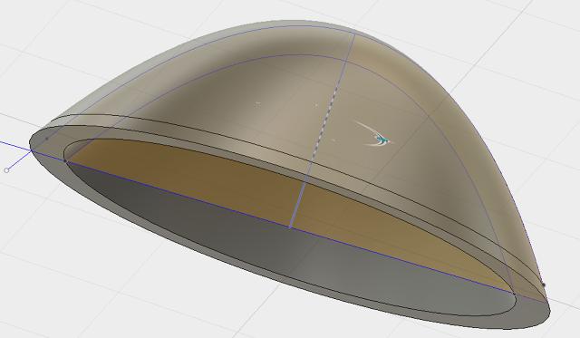 Designing parabolic reflector Step 3