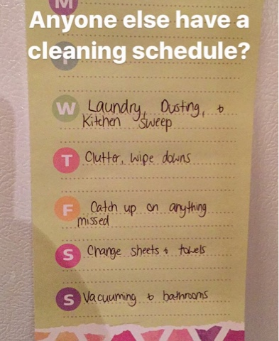 cleaning schedule stay at home mom routine cruelty free top mommy motherhood blogger