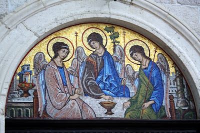 Mosaic on an Orthodox church in Budva