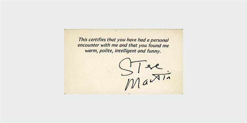 steve martin business card