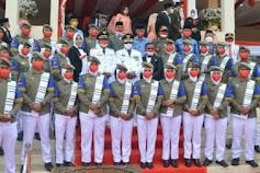 Korsik Bahana Abdi Praja Iringi Peringatan HUT RI ke 76 di Kabupaten Soppeng, Ini Sosok Pelatihnya