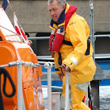 ALB Third Mechanic Wayne Belcher - I think I'm on the wrong side to get off the lifeboat!