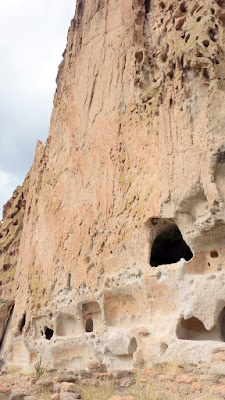 These cave rooms in the Bandelier National Monument, classified as cavates, were dug out of the cliff wall to create these cliff dwellings.