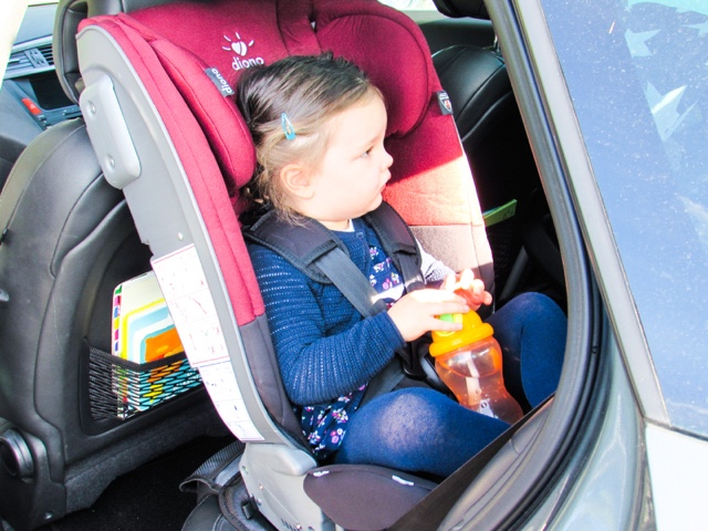 TODDLER: Choosing Extended Rear Facing with Diono Radian 5 Car Seat