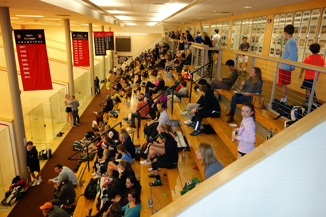 Courts 1-5 at Harvard Murr have the best seating.