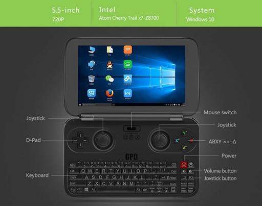 61rIWBKkXKL. SL1000 thumb%25255B2%25255D - 【ガジェット】「GPD WIN ゲームパッドタブレットPC」レビュー。Windows 10搭載+ゲームパッドつきのスーパーゲーミングタブレット!【タブレット/ゲームPC/神モバイル】