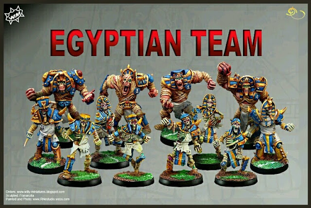 Egyptian Team Willy miniatures