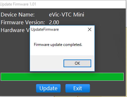 VTC Mini Firmware2 thumb2.png - Joyetech eVIC-VTC MINI 75W(eVic VTC Mini with TRON)版のレビュー「小さくてもできる子」